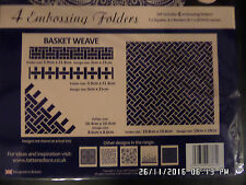 Tattered Lace Embossing Folders set of 4  - Basket Weave BNIP Stunning.