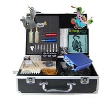 All tattoo equipment needles grip power supply tatoo machines kit