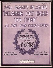 The Band Played Nearer My God To Thee As The Ship Went Down Lg Fmt Sheet Music