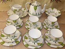 ROYAL Stafford Art Déco tea set servizio Shelley stile