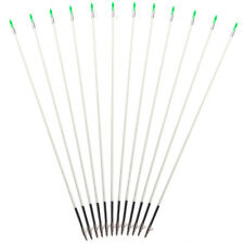 """12pcs Archery Bow Fishing Hunting Arrows with Broadheads and Safety Slides 31.5"""""""
