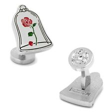 Disneys Beauty and the Beast Enchanted Rose CufflinksCuff Links Free Shipping