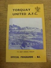 08/04/1967 Torquay United v Bristol Rovers  . Unless previously listed in bracke