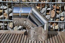 Edelstahl Schornstein Bogen 90° Abgasrohr Rauchrohr Kamin Sanierung EW Ø150 mm
