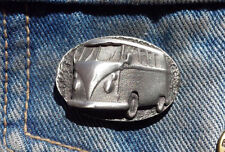 "VW Camper ""V DUB"" ""Air Cooled"" Hand Made in UK Pewter Lapel Pin Badge"