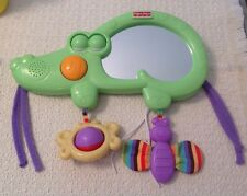 Fisher Price Luv U Zoo 2 in 1 Tummy Timer - Musical Crib Toy with Mirror, T7164