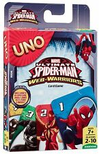Spider-Man Uno Card Game - Classic Card Game  - Ultimate Spider-Man Web Warriors