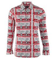 MOSCHINO Hemd Weiß Rot Shirt White Red Chemise Blanc Rouge 03070