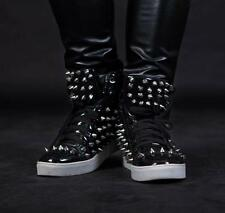 hot Mens Sneakers Spike Studded Punk Casual ankle boot High-Top Athletic Shoes