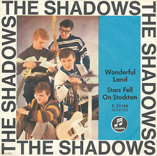 "7"" - The Shadows - Wonderful Land / Stars Fell On Stockton - Columbia 22103"