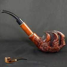 "EXCLUSIVE LARGE REAL WOODEN TOBACCO SMOKING PIPE  PEAR "" Dragon Claw  """