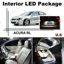 For Acura RL 2007-2012 Xenon White LED Interior kit + White License Light LED