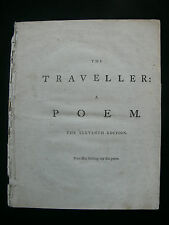 "Oliver Goldsmith ""The Traveller: A Poem"" 1786 11th Edition by T. Carnan"