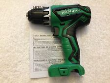 "New Hitachi 3/8"" 2 Speed 12V 12 Volt Peak DS10DFL2 Drill Driver With Belt Clip"