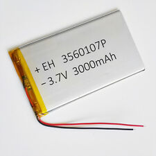 3.7V 3000mAh LiPo Polymer cell Battery For Tablet cube talk Power bank 3560107