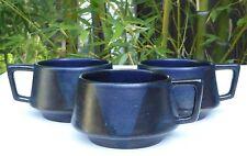 5 Vintage Art Pottery Coffee Mug Cups -  Mid Century Modern Look