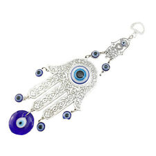 Turkish Blue Evil Eye Hamsa Hand Amulet Wall Protection Hanging