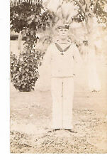 POSTCARD A SAILOR FROM HMS AEOLUS C1911-12 see history - RP Solio