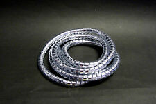 "Highway Hawk Spiral Motorcycle Cable Cover - Chrome - 1.5m - 3/8"" - BC729 - T"