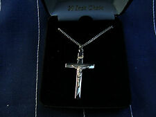 "Beautiful New Sterling .925 Silver Cross By Cross Gifts W/ 20"" chain Lot F"