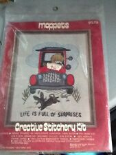 Vintage Creative Stitchery Kit Moppets Life is Full of Surprises Crewel Needle