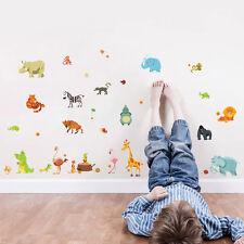 Animales Ventana Adhesivos Pared Vinilo Mural Cuarto Del Bebé Niños