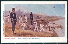 Militari Esercito Genio Zappatori Pontieri Rinaldi cartolina XF0477