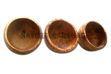 Lot de 3 bols en bois d'olivier 12 cm | SET OF 3 OLIVE WOOD BOWLS