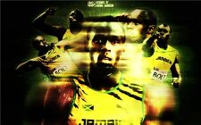 "Usain Bolt The World's Fastest Man Jamaica Champion Runner Poster 40""x24"" 039"