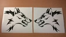 vinyl car stickers tribal wolf head flames graphics decals x2 motorbike tank vw