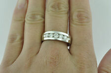 CLASSIC  1.00 ct MENS DIAMOND RING CHANNEL SET VS2 F   14k made in USA  5 stone
