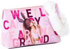 ARIANA GRANDE SWEET LIKE CANDY COSMETIC BAG & PLUSH TOWEL HAIRBAND  HANDBAG NWT