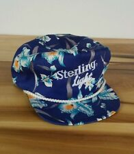 Vtg 70's 80s Sterling Light Beer Flower Hawaiian Snap Back Hat Excellent!