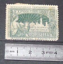CINDERELLA 1897 VIGNETTE TIMBRE EXPOSITION DE BRUXELLES BELGIQUE BELGIË BRUSSEL