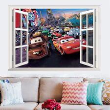Racing Cars McQueen Window Wall Decals Sticker Vinyl Mural Kids Child Room Decor