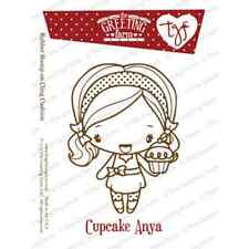 CUPCAKE ANYA-The Greeting Farm Cling Mount Rubber Stamp-Stamping Craft-Cards