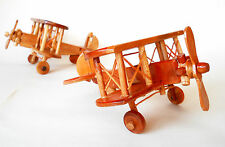 WOODEN HAND CARVED MADE MODEL OR KID'S TOY AEROPLANE 20 cm Indonesia