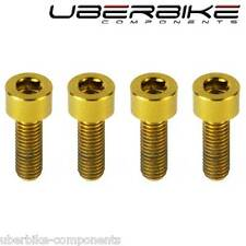 Uberbike Gold Titanium Brake Lever Bolts MTB Ti kits Avid Hope Compatible