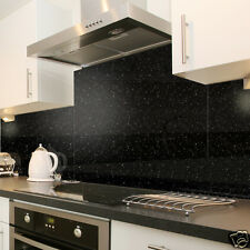 Black Cosmos Speckle Glass Splashback In 90cm X 40cm