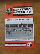18/04/1973 HEREFORD United V Stockport County FOOTBALL LEAGUE CUP [] (lievi MARKI
