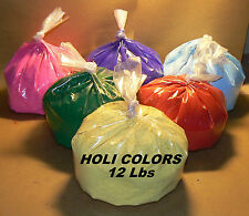 Holi colors powder 12 lbs Mixed colors Holi parties, natural ingredients