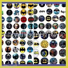 100 Pre-Cut BATMAN SUPER HEROES Comic BOTTLE CAP IMAGES Cartoon Mix 1 inch discs