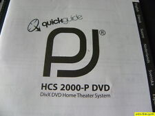 Jamo PJ  HCS 2000-P DVD Owner's manual ( Quick Guide) New