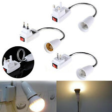 E27 Socket Lamp Bulb Holder Flexible Extension Adaptor On/Off Switch US Plug