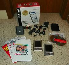 Toshiba e335 Handheld Pocket PC PDA (X2) w/ Original Box & Accessories - TESTED