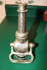 Vintage Used Elkhart Brass Mfg Co. Fire Hose Nozzle w Chrome Plating