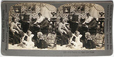 Keystone Stereoview a Family of 8 with Doll & Game from a 1900's 72 Card Set # A