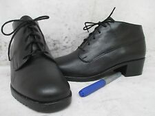 Munro Black Leather Lace Up Ankle Boots Shoes Size 5.5 M Style M198211