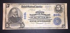 1902 $5 First National Bank Laurel Mississippi Ch# 6681