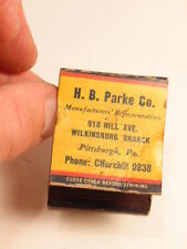 Vintage matchbook Day Brite Lighting/ H.B. Parke,  Pittsburgh, PA- 4 digit phone